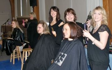 Spa Day, Moms and stylists from the Forsythe Studio<br />(Photo: West Seattle Blog)